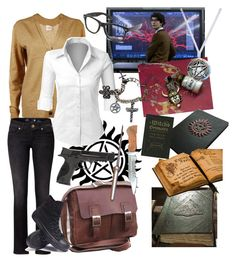 """""""Hunter!Q"""" by avagrods on Polyvore featuring Tory Burch, NOVICA, LE3NO, Replay, Converse and Smith & Wesson"""