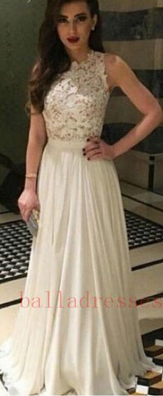 #IVORY #CHIFFON #prom #party #evening #dress #dresses #gowns #cocktaildress…