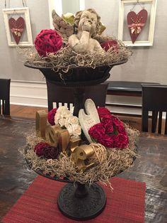 Valentine's tiered centerpiece