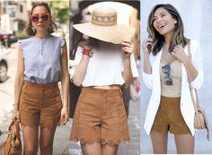 shorts da moda, short suede