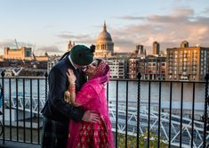 Fabulouse Indain and Scotish weddng at The Globe Theatre oppersite St Paul's Cathedral.