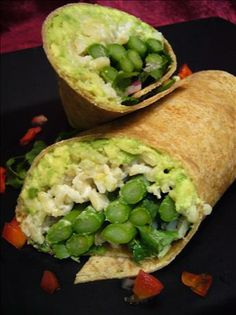 "Asparagus and Avocado Wraps from Food.com: Although avocados are high in fat, 3/4 of their fat calories come from monounsaturated fat, which is the type that may help protect against coronary artery disease. They also have 3x as much potassium as a banana. So enjoy with out guilt this healthy recipe from ""The Mayo Clinic Williams Sonoma Cookbook."""