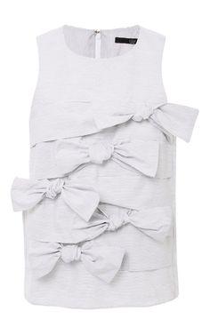 Gaucho Stripe Tie Top by Tibi for Preorder on Moda Operandi