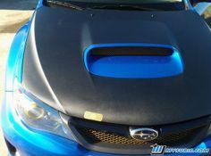 Subaru WRX carbon fiber vinyl hood Carbon Fiber Vinyl, Subaru Wrx, Beast, Blue