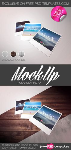 Free Polaroid Photo Mockup PSD | Free PSD Templates | #free #photoshop #mockup…