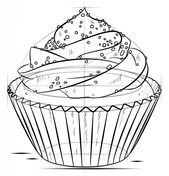 How to draw a cupcake Drawing tutorial