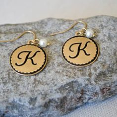 2ca655c29 GLENDA EARRINGS Item #PE184 These monogram earrings are perfect to accent  this lovely set.