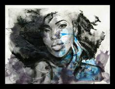 "Saatchi Art Artist Jeremy Bell; Drawing, ""Untitled Diva #3"" #art"