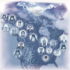 Clickable Image Map of All Saints of North America
