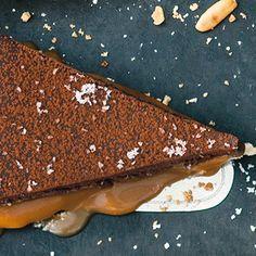 Tarte au chocolat et caramel salé - Schoko-Karamell-Tarte Rezept | Küchengötter