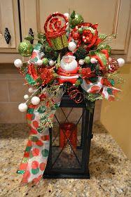 Kristen's Creations: Christmas Lantern Swags