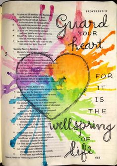 Guest post by Lisa Nichols Hickman, author of Writing in the Margins: Connecting with God on the Pages of Your Bible. This week the Bible Journaling of Peggy Buckley Thibodeau caught my eye. Faith Bible, My Bible, Bible Scriptures, Bible Quotes, Cool Bible Verses, Art Journaling, Bible Study Journal, Bible Drawing, Bible Doodling