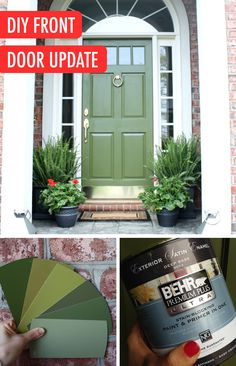 1000 Ideas About Green Front Doors On Pinterest Front
