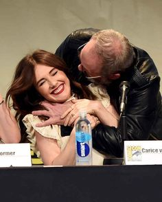 Ser Davos, Stannis and Melisandre get along great in real life.