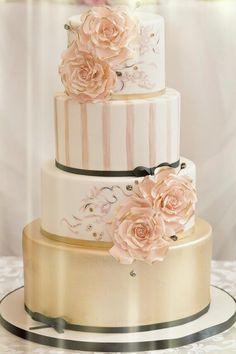 Image result for Rose Gold Wedding Cake Ideas