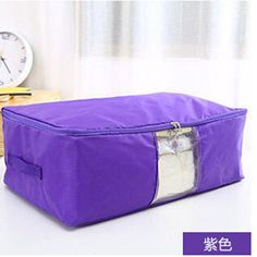 Bamboo Charcoal Clothes Blanket Large Folding Bag Storage Box Organizer P uf #Unbranded