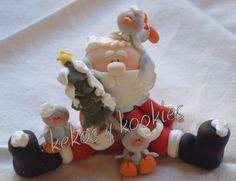 I love Santa Christmas Pasta, Polymer Clay Christmas, Winter Christmas, Christmas Crafts, Christmas Decorations, Xmas, Christmas Time, Christmas Ornaments, Polymer Clay Halloween