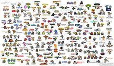 팀블로그 오버플로우 :: 록맨풍의 도트로 그려진 200개의 게임캐릭터들.