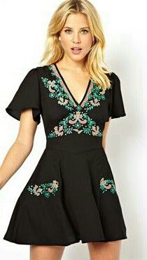 Asos embroidered dress ♡ mine