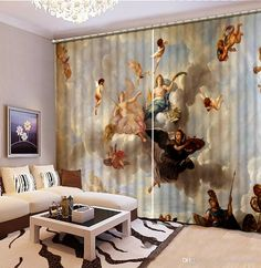 Wholesale cheap 3d curtain online, item type - Find best home bedroom decoration europe style angel custom curtain fashion decor home decoration for bedroom at discount prices from Chinese shades and blinds supplier - chinahomegarden on DHgate.com.
