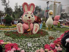 Giant Floral Rabbit at the Hong Kong Flower Show