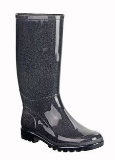 Brette Extra Wide Calf Rain Boot (Metallic Grey) - Finally! Wide calf boots that will fit ME!