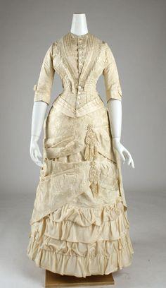 Dress ca. 1881 via The Costume Institute of the Metropolitan Museum of Art
