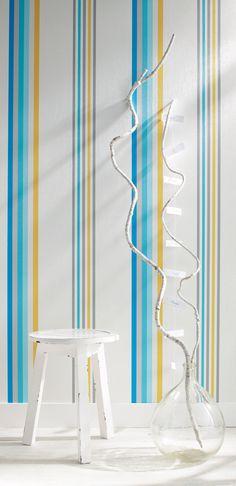 Collection : FULL STRIPES, Yole, zoom  #papierpeint #decoration #interieur #tendance #Caselio #rayures #rayure  http://www.caselio.fr
