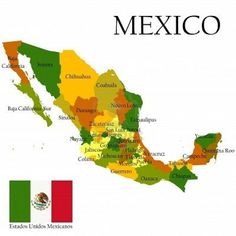 map of mexico printable mexican flag