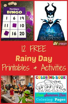 12 FREE Rainy Printables And Activities