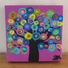 Abstract tree painting on canvas by aisha