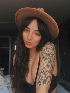 Tattoos For Women Half Sleeve, Forearm Sleeve Tattoos, Shoulder Tattoos For Women, Flower Tattoos On Shoulder, Shoulder Sleeve Tattoos, Flower Sleeve Tattoos, Tattoos On Women, Female Tattoo Sleeve, Women Sleeve