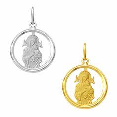 Medalha em Ouro de Nossa Senhora do Perpétuo Socorro - Vazada