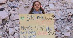 Bana Alabed suplica en sus redes sociales que paren los bombardeos de aviones rusos en el este de Alepo.