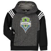 Seattle Sounders FC adidas Youth Pullover climawarm Hoodie - Heather Gray