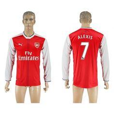 Arsenal 16-17 #Alexis Sanchez 7 Hjemmebanetrøje Lange ærmer,245,14KR,shirtshopservice@gmail.com