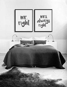 Wandgestaltung fürs Schlafzimmer, passt perfekt über das Bett, Hochzeitsgeschenk / bedroom decoration: artprint for married couples made by LovelyDecor via DaWanda.com