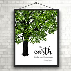 The Earth | #Gogreen | #WendellBerry | #Thinkgreen | #Earthday | #April22 | Quote | #ArtPrint | #Typography | Home Decor Print | #Printable by InspirationWallDecor on Etsy. Check more #digitalprint #walldecor #artprint themed at my #etsy store:  www.etsy.com/shop/InspirationWallDecor