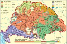 11.-térkép1 Old World Maps, Old Maps, Central Europe, Historical Maps, Family History, Poster, Language, Culture, Life