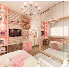 Teen Bedroom Designs, Cute Bedroom Ideas, Cute Room Decor, Room Ideas Bedroom, Girls Bedroom, Bedroom Decor, Bedrooms, Dream Rooms, Dream Bedroom