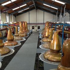 Stills @ the Glenfiddich distillery. Oh, yeah, I walked amongst these shiny copper kettles ;).