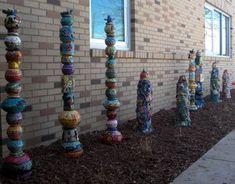 school-wide art- sculpture gardern