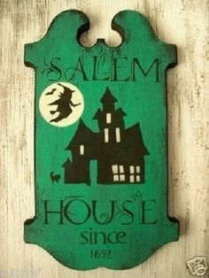 Primitive Halloween Sign Salem House Since 1692 by SuziesSigns