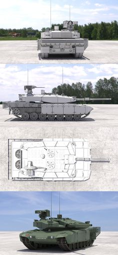 Leopard 2 MBT Revolution(Green NATO) #3Dmodel #3Dartist #Tank #Collection #3Dsmax #Vray