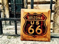 Excited to share the latest addition to my #etsy shop: Arizona Route 66 Wooden Sign Picture Home Decor Wall Art Wooden Picture