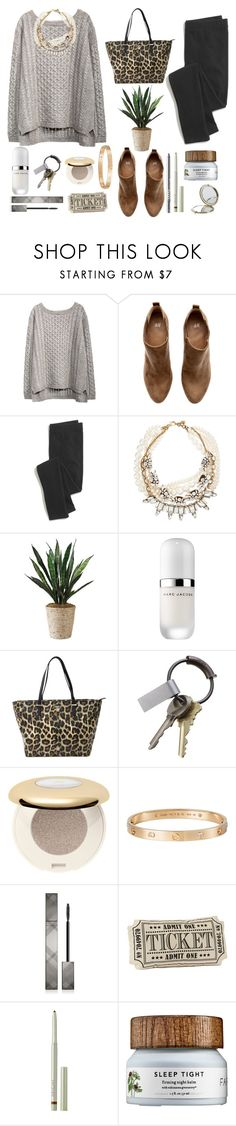 """""""can't get you out of my head"""" by thosewhowonderarenotalwayslost ❤ liked on Polyvore featuring H&M, Madewell, Lulu Frost, Marc Jacobs, Kate Spade, CB2, Cartier, Burberry, LORAC and Origins"""