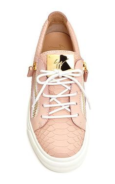 Giuseppe Zanotti - Rose Pink Leather Golia Sneakers