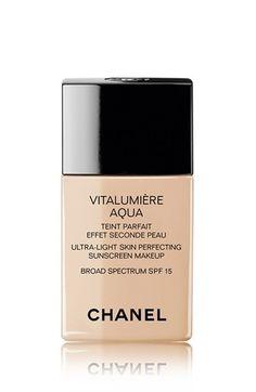 CHANEL+VITALUMIÈRE+AQUA+ Ultra-Light+Skin+Perfecting+Suncreen+Makeup+Broad+Spectrum+SPF+15+available+at+#Nordstrom