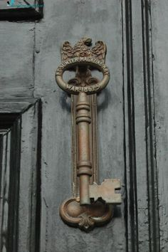 Skeleton key door knocker or handle
