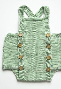 Unisex Hand Knit Cotton Baby Romper | atelierbagatela on Etsy